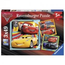 RAVENSBURGER Puzzle 3x49 Auta 3 CARS 3 080151