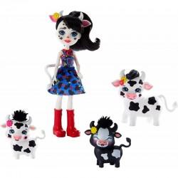 MATTEL Enchantimals Lalka i Zwierzątko CAMBRIE COW i KRÓWKI GJX44