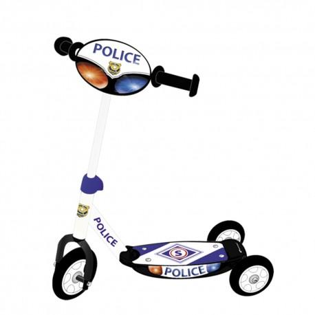 Trójkołowa Hulajnoga Signal Policja z Lampką LED