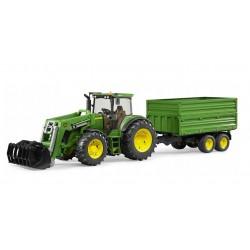 BRUDER Traktor John Deere z Ładowarką i Przyczepą 03055