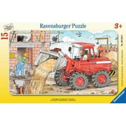 RAVENSBURGER Puzzle na Podkładce 15 Elementów KOPARKA 063598