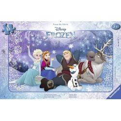 RAVENSBURGER Puzzle na Podkładce 15 Elementów Frozen Kraina Lodu POD GWIAZDAMI 061273