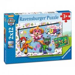 RAVENSBURGER Układanka Puzzle 2x12 PSI PATROL SUPER PUPS 076130