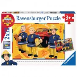 RAVENSBURGER Układanka Puzzle 2x1 STRAŻAK SAM W AKCJI 075843