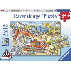 RAVENSBURGER Puzzle Układanka 2x12 PLAC BUDOWY 076307