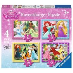 RAVENSBURGER Układanka Puzzle 4w1 KSIĘŻNICZKI DISNEYA 073979