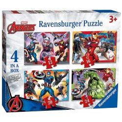 RAVENSBURGER Układanka Puzzle 4w1 AVENGERS 069422