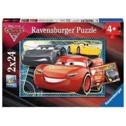 RAVENSBURGER Puzzle 2x24 Cars 3 PRZYGODA Z MCQUEEN 078165