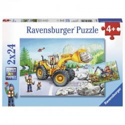 RAVENSBURGER Puzzle Układanka 2x24 MASZYNY W PRACY 078028
