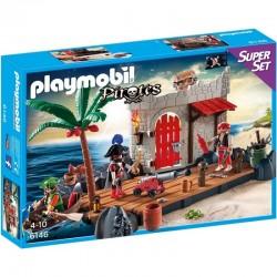 PLAYMOBIL 6146 PIRACI Twierdza Piratów