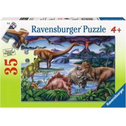 RAVENSBURGER Układanka Puzzle 35 Elementów PLAC ZABAW DLA DINOZAURÓW 086139