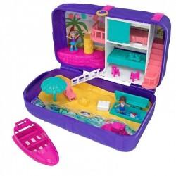 Mattel Polly Pocket BEACH VIBES Domek na Plaży w Plecaku FRY40