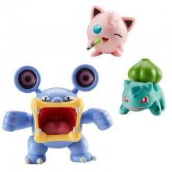 Pokemon LOUDRED JIGGLYPUFF BULBASAUR Figurki Kolekcjonerskie 95147