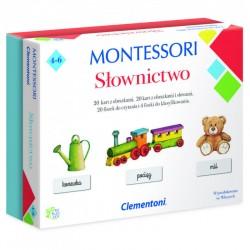 CLEMENTONI Montessori SŁOWNICTWO Zestaw Edukacyjny 50077