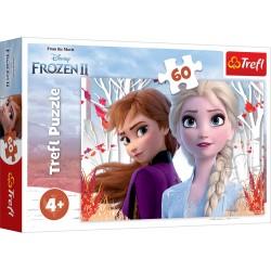 TREFL Puzzle 60 Elementów Frozen 2 Kraina Lodu 2 ZACZAROWANY ŚWIAT ANNY I ELSY 17333