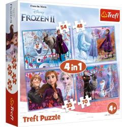 TREFL Puzzle Układanka 4w1 FROZEN 2 KRAINA LODU 2 Podróż w Nieznane 34323
