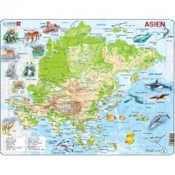 LARSEN PUZZLE Mapa Fizyczna Azji Język Niemiecki 00080