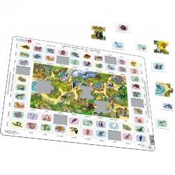 LARSEN Puzzle NAUKA ANGIELSKIEGO Zoo 11932