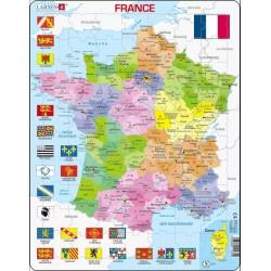LARSEN PUZZLE Mapa Polityczna Francji 12359