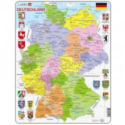 LARSEN PUZZLE Mapa Polityczna Niemiec 12595