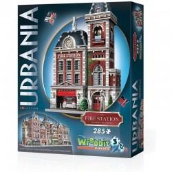 WREBBIT Puzzle 3D Urbania REMIZA STRAŻACKA 285 Elementów 00505
