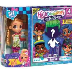 Hairdorables LALECZKA KAT i CHŁOPIEC Hairdudeables 23775