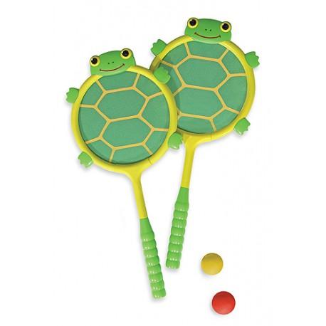 Melissa & Doug - 16165 - Paletki do Badmintona w Kształcie Żółwia