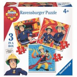 RAVENSBURGER Układanka Puzzle 3w1 STRAŻAK SAM 070657