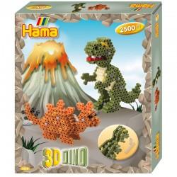 HAMA MIDI 3250 Zestaw Dinozaury 3D 2500 Koralików