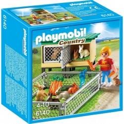 PLAYMOBIL 6140 COUNTRY Klatka dla Królików z Wolnym Wybiegiem