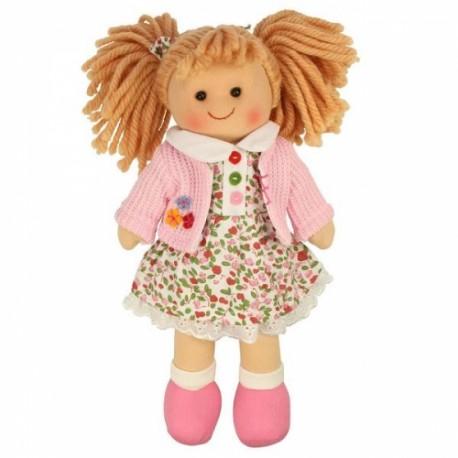 Bigjigs Toys - BJD005 - Lalka Szmaciana 28 cm - Poppy - Paulinka