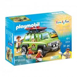 PLAYMOBIL Family Fun 9154 Samochód SUV i Wyprawa na Kajaki