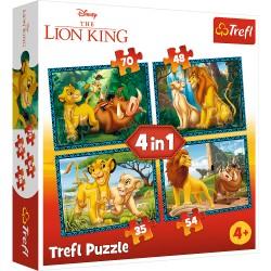 TREFL Puzzle Układanka 4w1 KRÓL LEW i Przyjaciele 34317