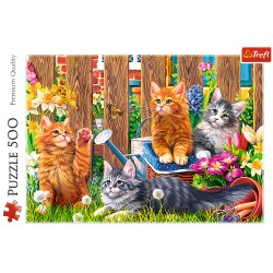 TREFL Puzzle Układanka KOTKI W OGRODZIE 500 el. 37326