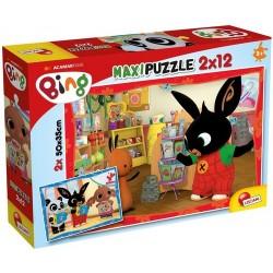 LISCIANI Puzzle Maxi 2x12 el. KRÓLIK BING W SZKOLE 81233