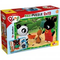 LISCIANI Puzzle Maxi 2x12 el. KRÓLIK BING I PRZYJACIELE 81226