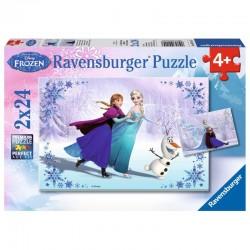 RAVENSBURGER Puzzle Układanka 2x24 el. KRAINA LODU Frozen 091157