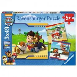 RAVENSBURGER Puzzle Układanka 3x49 el. PSI PATROL 3694