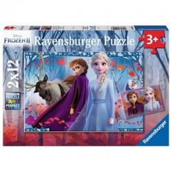 RAVENSBURGER Puzzle Układanka 2x12 el. KRAINA LODU Frozen 050093