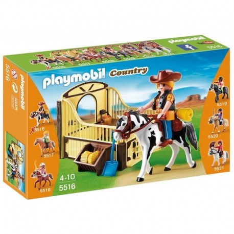 PLAYMOBIL 5516 COUNTRY Koń Tinker z Boksem - Kitty