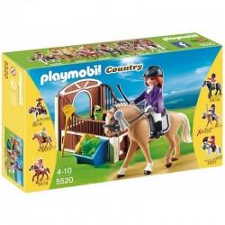 PLAYMOBIL 5520 COUNTRY Koń Wielkopolski z Boksem - Joy