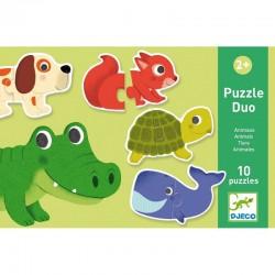 DJECO Puzzle Duo ZWIERZĄTKA 08147