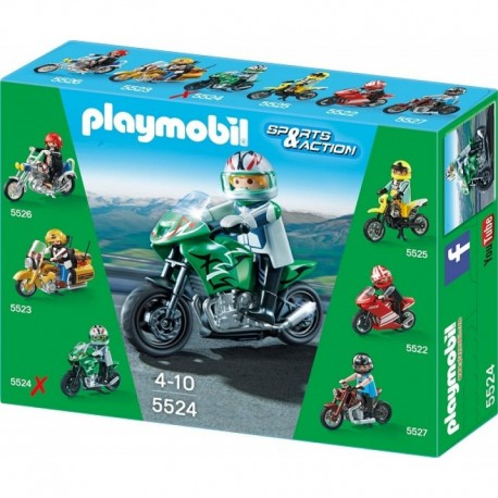 PLAYMOBIL 5524 SPORTS & ACTION Motocykle - Sportbike