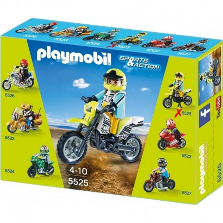 PLAYMOBIL 5525 SPORTS & ACTION Motocykle - Cross