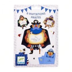 DJECO Zaproszenia Urodzinowe PIRACI 04784