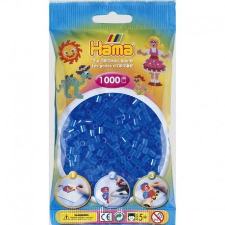 Hama - Midi - 20715 - Koraliki Niebieskie Transparentne - Zestaw Uzupełniający 1000 szt.