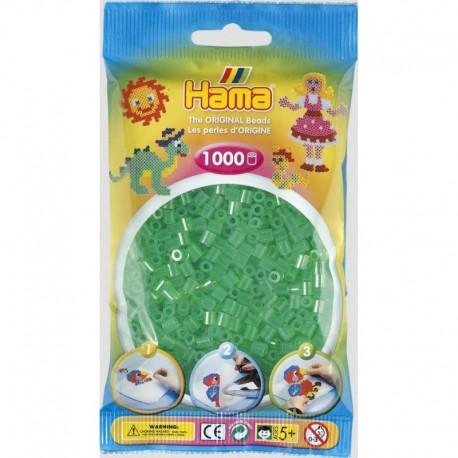 Hama - Midi - 20716 - Koraliki Zielone Transparentne - Zestaw Uzupełniający 1000 szt.