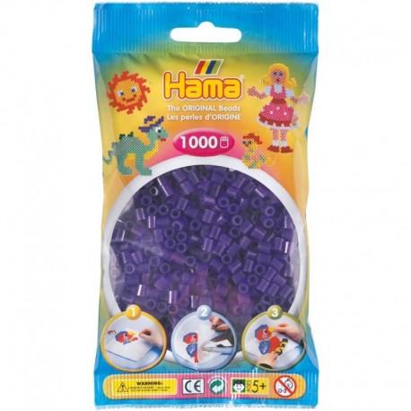 Hama - Midi - 20724 - Koraliki Fioletowe Transparentne - Zestaw Uzupełniający 1000 szt.