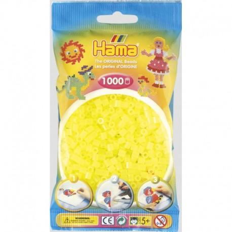 Hama - Midi - 20734 - Koraliki Żółte Neonowe - Zestaw Uzupełniający 1000 szt.