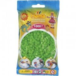 Hama - Midi - 20742 - Koraliki Zielone Neonowe - Zestaw Uzupełniający 1000 szt.